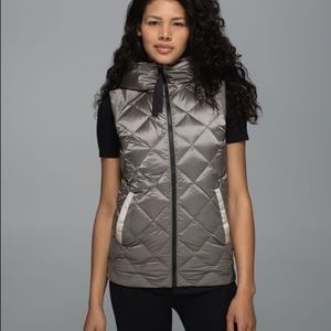 Lululemon The Fluffiest Reversible Down Vest Camo
